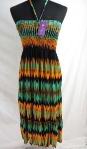 South-western print dress with strap tie on the neck. Fashion summer dress / boho beach dress / southwestern sundress / vacation dress / halter dress.
