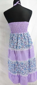 light weight polyester small flower dresses. Can be used as sundresses or long skirt.