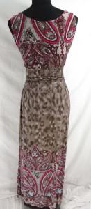 vintage boho paisley long dress, maxi dress, boho beach dress, maxi sundress, vacation dress