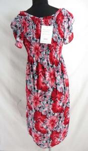 tropical floral summer short dress with short sleeve. Hippy boho mini dress / tube top dress / boho beach dress / vintage sundress / vacation dress / halter dress.