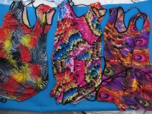 Tropical colorful summer short dress. Hippy boho mini dress / boho beach dress / vintage sundress / vacation dress / halter dress.