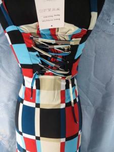 multiple color block design long dress / maxi sundress / beach dress / vacation dress / halter dress