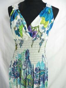 Paisley floral bohemian long dress / maxi dress / boho beach dress / maxi sundress / vacation dress / halter dress.