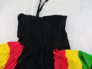 "rasta angle cut sundress asymmetrical dresses with smocked top 100% Rayon, handmade in Bali Indonesia. ""One size fits all"" - Will fits US Size 6, 8, 10, 12"
