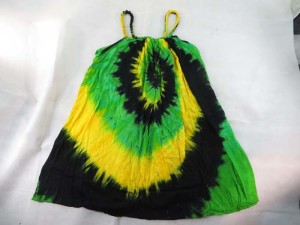 "rasta tie dye sundress asymmetrical dresses with smocked top 100% Rayon, handmade in Bali Indonesia. ""One size fits all"" - Will fits US Size 6, 8, 10, 12"