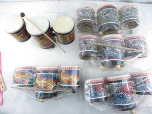 small tripe drums set made in Bali Indonesia
