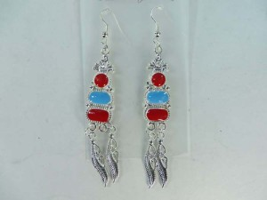 enamal vintage boho style fashion earring