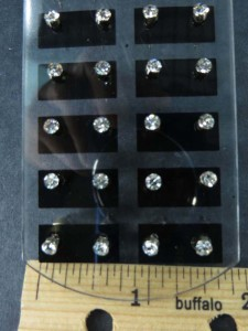 Wholesale Earring 12 pairs Stainless Steel Ear Studs Earrings with Stand
