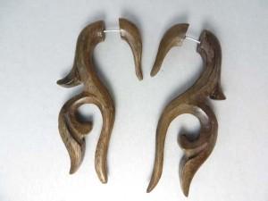Wooden Fake Cheater Plug, Unisex Ear Stud Earring, Body Jewelry Fake Cheater, Fake Ear Plug Expanders