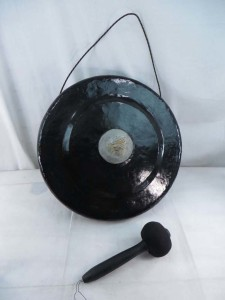 large size Bali handmade iron gong with beater