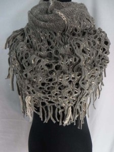 knit infinity scarf, circle loop long shawl wrap cowl neck scarf circular endless scarf