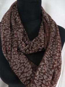 animal print leopard cheetah infinity scarf circle loop long wrap endless shawl $3.45