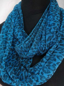 animal print leopard cheetah infinity scarf circle loop long wrap endless shawl $3.45