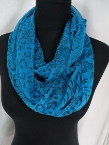 animal print infinity scarf circle loop long wrap endless shawl cowl neck circular scarf