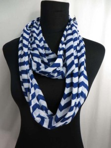 Chevron Jersy material infinity scarf circle loop long wrap endless shaw