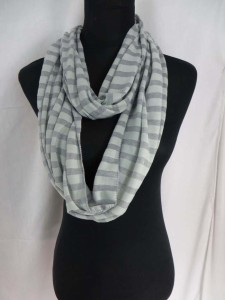 Stripes Jersy material infinity scarf circle loop long wrap endless shawl cowl neck circular scarf