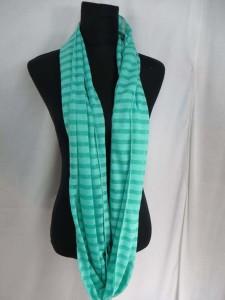 Stripes Jersy material infinity scarf circle loop long wrap endless shawl cowl neck circular scarf