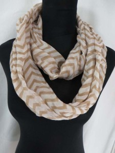 Chevron infinity scarf circle loop long wrap endless shawl cowl neck circular scarf