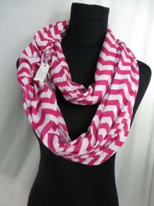 Chevron Jersy material infinity scarf circle loop long wrap endless shawl