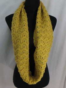 wavy design 2-loop knit infinity scarf circle loop long shawl wrap cowl neck scarf $3.45