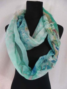 butterfly, floral, roses infinity scarf circle loop long wrap endless shawl