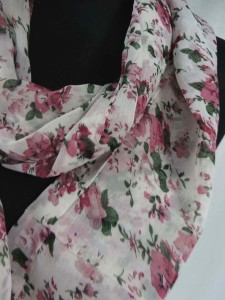 florals roses infinity scarf circle loop long wrap endless shawl cowl neck circular scarf