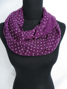 poker dots infinity scarf / circle loop long wrap / endless shawl / cowl neck circular scarf / eternity scarf / double loop scarf