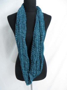 animal print stripes infinity scarf / circle loop long wrap / endless shawl / cowl neck circular scarf / eternity scarf / double loop scarf