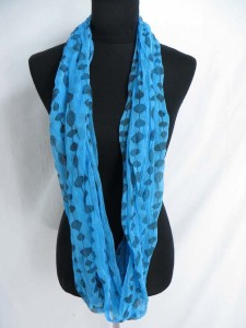 dots on strings infinity scarf / circle loop long wrap / endless shawl / cowl neck circular scarf / eternity scarf / double loop scarf
