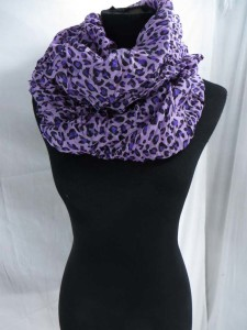 animal skin animal print leopard print cheetah print infinity scarf / circle loop long wrap / endless shawl / cowl neck circular scarf / eternity scarf / double loop scarf