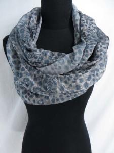 animal skin animal print leopard print cheetah print infinity scarf / circle loop long wrap / endless shawl / cowl neck circular scarf / eternity scarf / double loop scarf