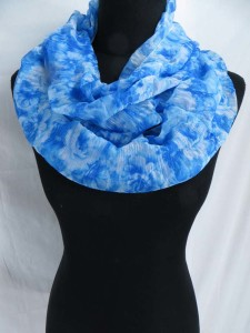 tie dye boho infinity scarf / circle loop long wrap / endless shawl / cowl neck circular scarf / eternity scarf / double loop scarf