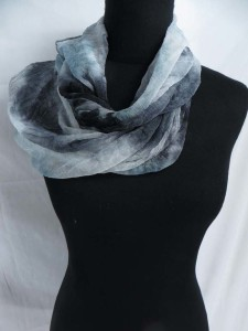 tie dye infinity scarf / circle loop long wrap / endless shawl / cowl neck circular scarf / eternity scarf / double loop scarf