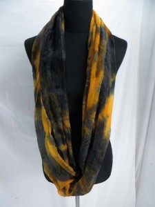 extremely wide tie dye infinity scarf / circle loop long wrap / endless shawl / cowl neck circular scarf / eternity scarf / double loop scarf