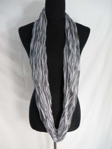 tie dye stripe infinity scarf / circle loop long wrap / endless shawl / cowl neck circular scarf / eternity scarf / double loop scarf