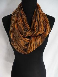 tie dye stripe infinity scarf / circle loop long wrap / endless shawl / cowl neck circular scarf / eternity scarf / double loop scarf
