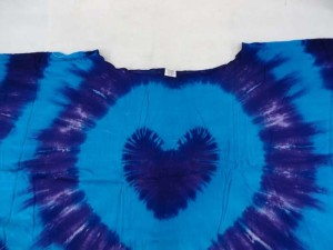 heart tie dye rayon womens poolside kaftan top shirt Made of 100% rayon, handmade in Bali Indonesia One size fits for all (Fits size S, M, L, X., 1X, 2X, 3X)