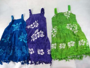 Aloha kids dress in assorted color and design Made of 100% rayon, handmade in Bali Indonesia