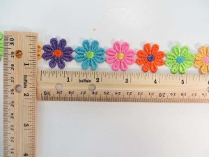multiple colors 1 inches wide daisy flower embroidery venice lace trim