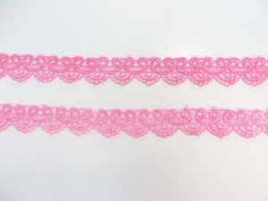 pink 1 inches wide scallop venice lace trim