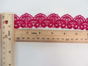 fuchsia 1 inches wide scallop venice lace trim
