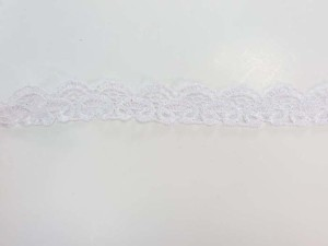 white 1 inches wide scallop venice lace trim