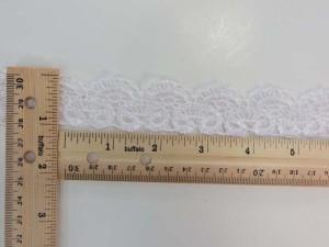 white 1 inches wide scallop venice lace trim