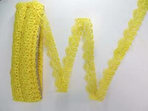 yellow 1 inches wide scallop venice lace trim