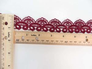 red 1 inches wide scallop venice lace trim