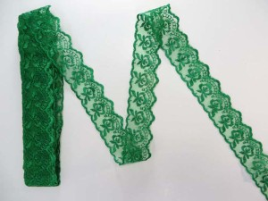 10 yards green 1.5 inches wide scallop venice flower lace trim