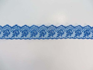 10 yards blue 1.5 inches wide scallop venice flower lace trim