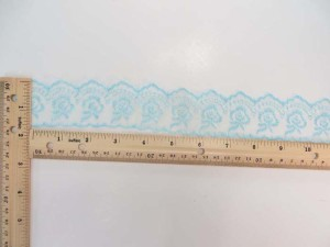 10 yards light blue 1.5 inches wide scallop venice flower lace trim