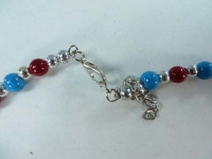 faux gemstone and enamel fashion necklace