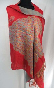 double-sided peacock pashmina scarves shawl wrap stole